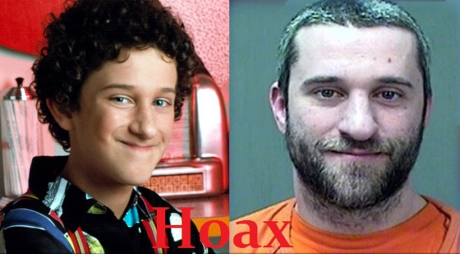Saved By The Bell star Dustin Diamond charged with second degree murder is a hoax.
