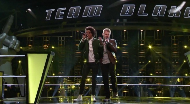 Corey Kent White and Jacob Rummell perform on The Voice US Season 8