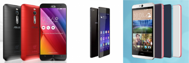 Asus Zenfone 2 Vs Gionee Elife S7 Vs HTC Desire 826; Choose The Right Mid-Range Smartphone