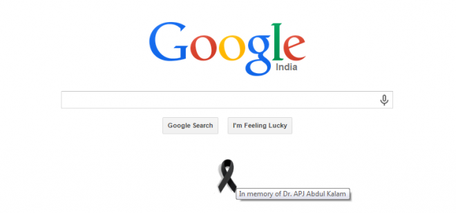 Google's Homage To 'People's President' APJ Abdul Kalam With A Black Ribbon Is A Thoughtful Honour