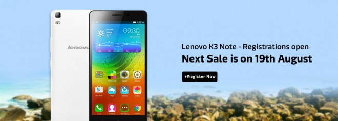Rs 9,999 Lenovo K3 Note Skips Flash Sale This Week After A 2-Day Open Sale: Next Sale Is On 19 August
