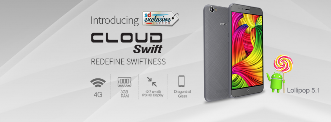 Intex Cloud Swift launches with 3GB RAM at Rs 8,888: Specifications and availability
