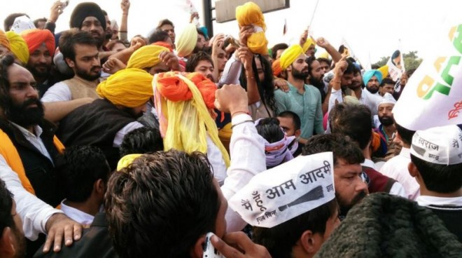 chandigarh AAP protest