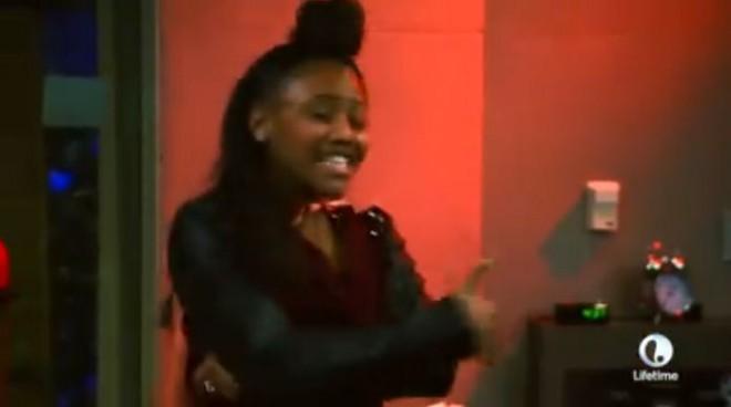 Supa Peach rapping for Jermaine Dupri