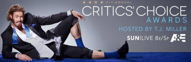TJ Miller is hosting the 2016 Critics' Choice Awards