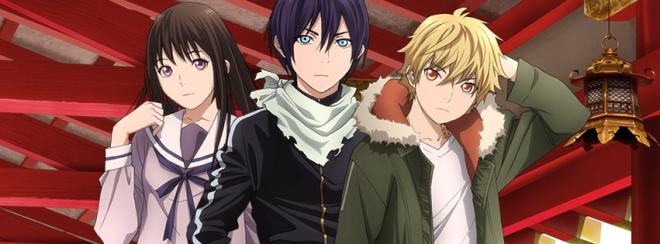 """Yato, Hiyori and Yukine from """"Noragami Aragoto"""""""