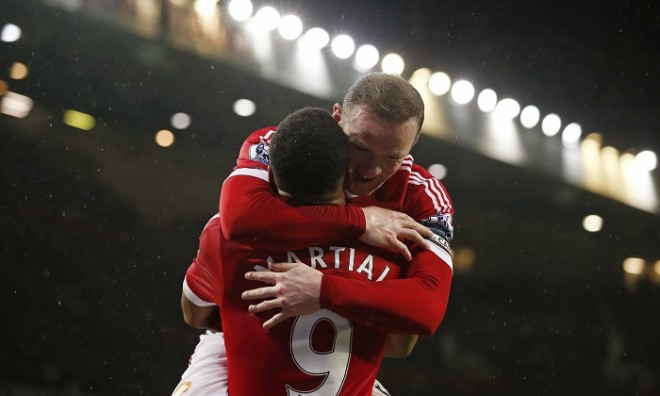 Wayne Rooney-Anthony Martial