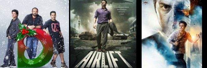 Dilwale, Airlift and Ghayal Once Again