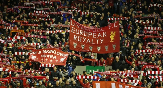 Anfield crowd Liverpool Manchester United