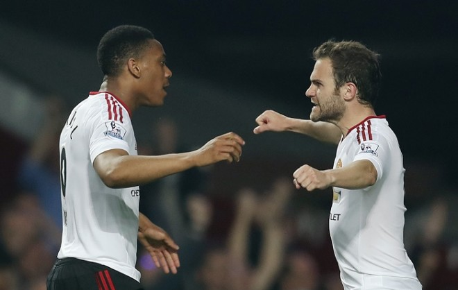 Anthony Martial Juan Mata