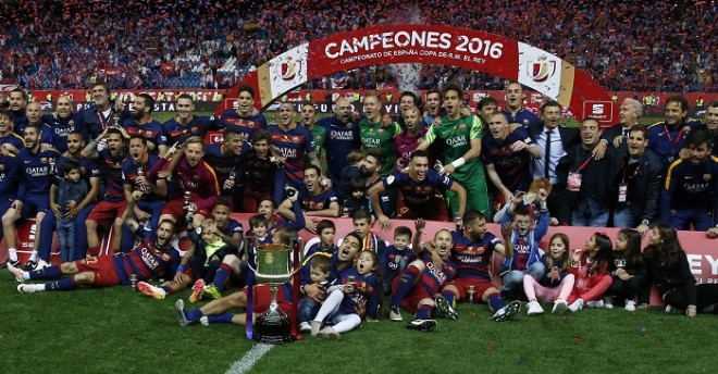 Barcelona Copa Del Rey trophy 2016