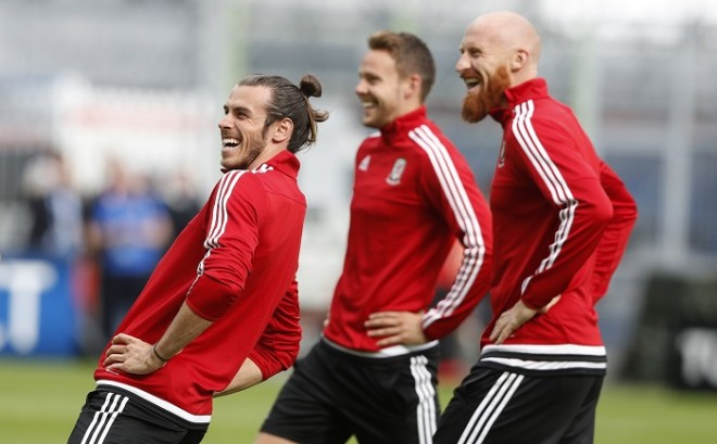 Gareth Bale Wales James Collins Chris Gunter