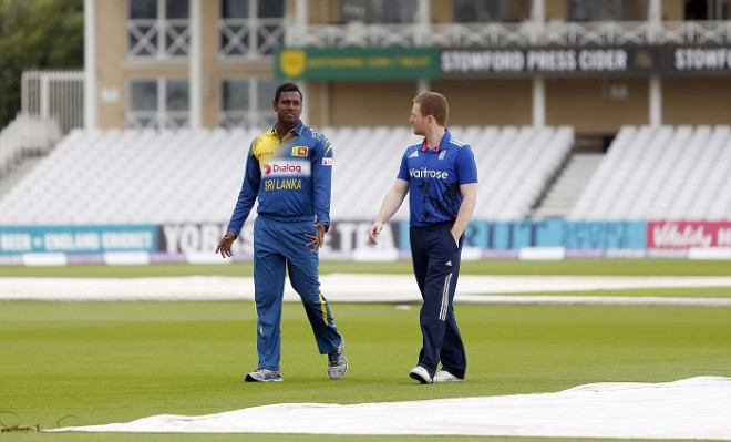 Angelo Mathews Eoin Morgan Sri Lanka England