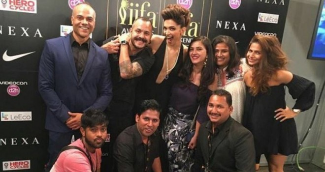 IIFA 2016 technical awards winners' list revealed. Pictured: Deepika Padukone with her team