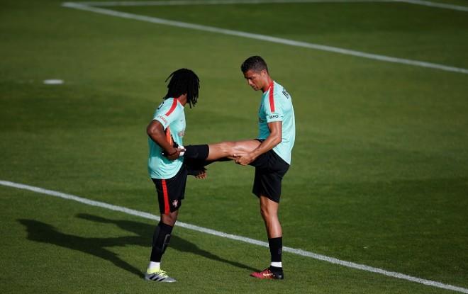 Renato Sanches Cristiano Ronaldo Portugal