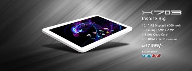 Swipe launches X703 tablet with 6,000mAh battery at Rs. 7,499