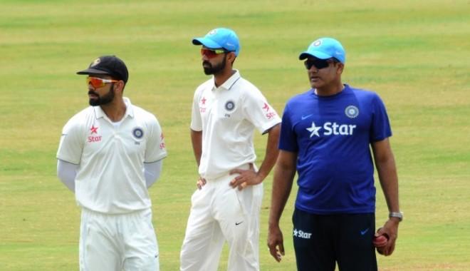 Kohli Rahane Kumble India