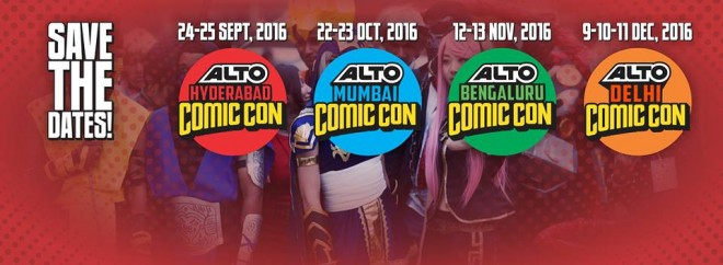 Schedule for Comic-Con India in all the four cities this year