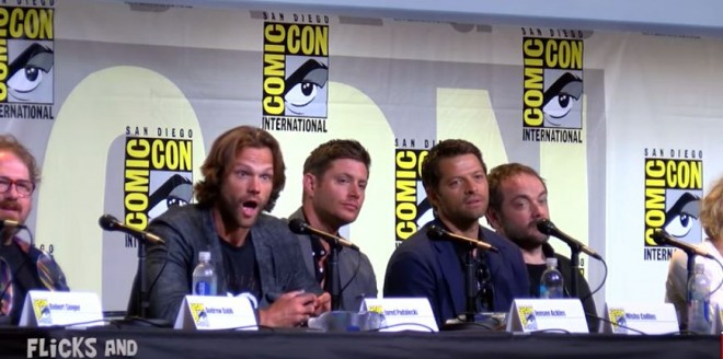 Jared Padalecki realises that a fan is about to pop the question to his girlfriend