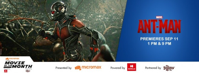 """Ant Man"" is premiering in Indian television via Star World."