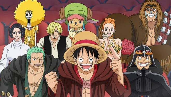 Luffy with his crew