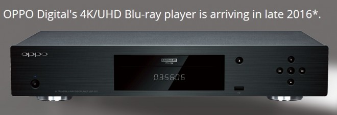 Oppo Ultra HD Blu-ray player