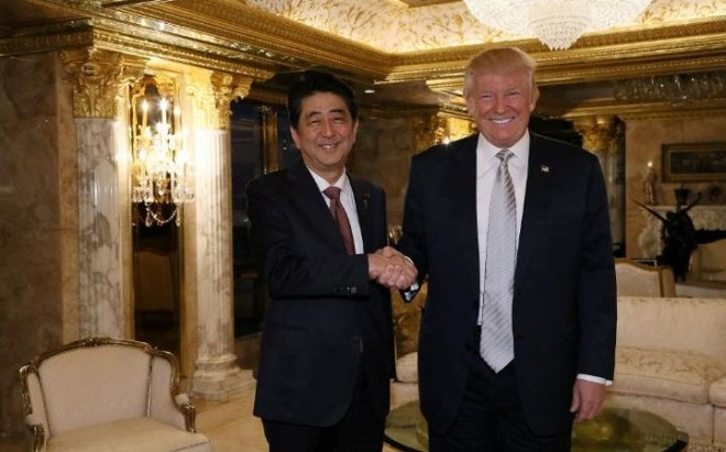 Japan's Abe meets with Trump, expresses confidence