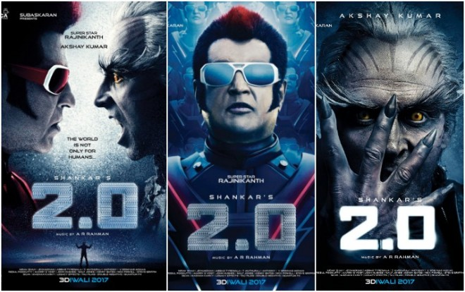 Rajinikanth Akshay Kumar's first look in 2.0