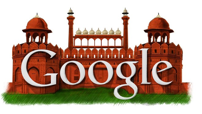 Google Doodle of Independence Day 2011