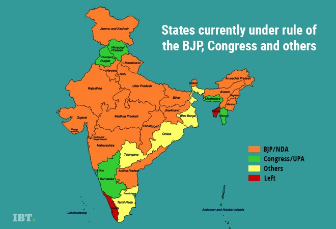 number of states under bjp rules after bihar drama