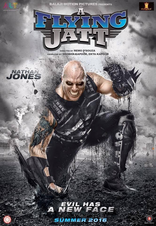 Tiger Shroff,A Flying Jatt first look poster,A Flying Jatt first look,A Flying Jatt poster,Nathan Jonnes,Sharad Kapoor,Jacqueline Fernandez