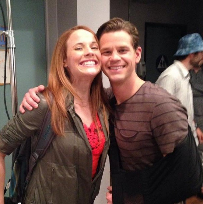 Katie Leclrec who plays Daphne and Ryan Lane who plays Travis in 'Swicthed at Birth'