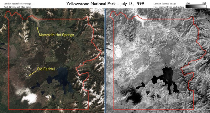 Yellowstone, Supervolcano, nasa,