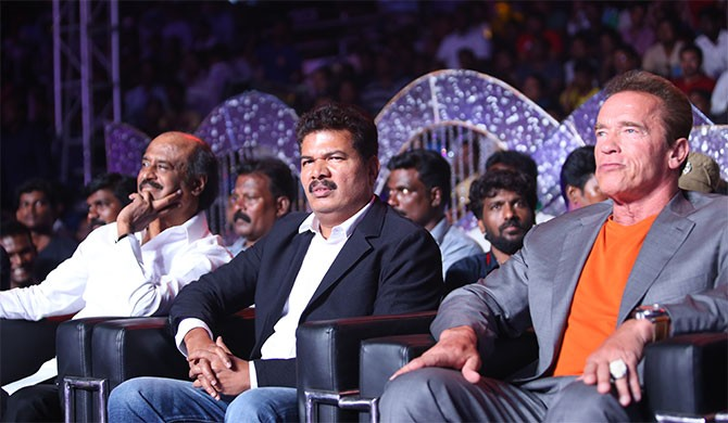 Rajinikanth, Shankar and Arnold