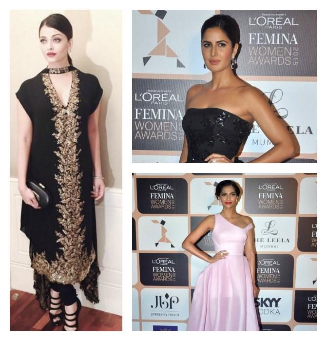 Femina Women Awards 2015,L'Oréal Paris Femina Women Awards 2015,Aishwarya rai Bachchan,katrina kaif,Sonam Kapoor,Award Function,Femina awards photos