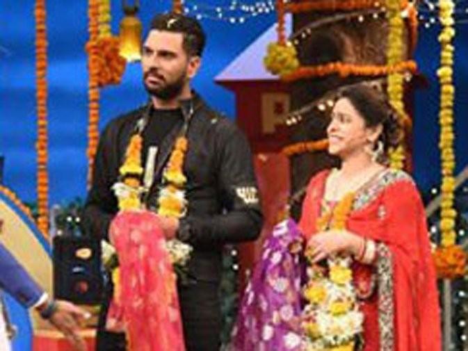 Sumona Chakraborty,Sumona Chakraborty weds Yuvraj Singh,Yuvraj Singh,Yuvraj Singh wedding,Yuvraj Singh marriage,yuvraj singh hazel keech,Hazel Keech,Sumona Chakraborty pics,The Kapil Sharma Show
