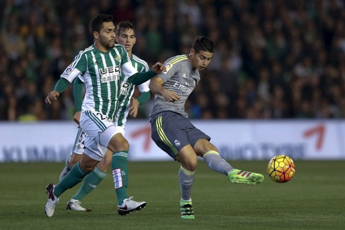 James Rodriguez Real Madrid Real Betis
