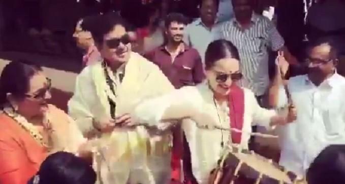 Sonakshi Sinha playing chenda