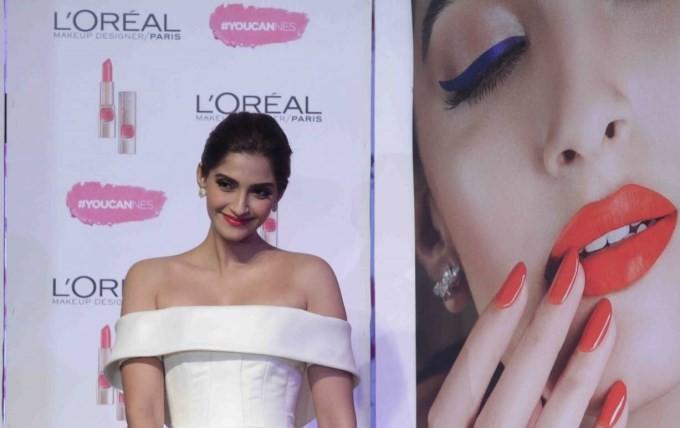 Sonam Kapoor at L'Oreal Paris's new Cannes Collection,Sonam Kapoor,actress Sonam Kapoor,Sonam kapoor bold photo,Sonam Kapoor pics,Sonam Kapoor images,hot Sonam Kapoor,Sonam Kapoor latest pics,L'Oreal Paris,L'Oreal Paris brand ambassador,L'Oreal