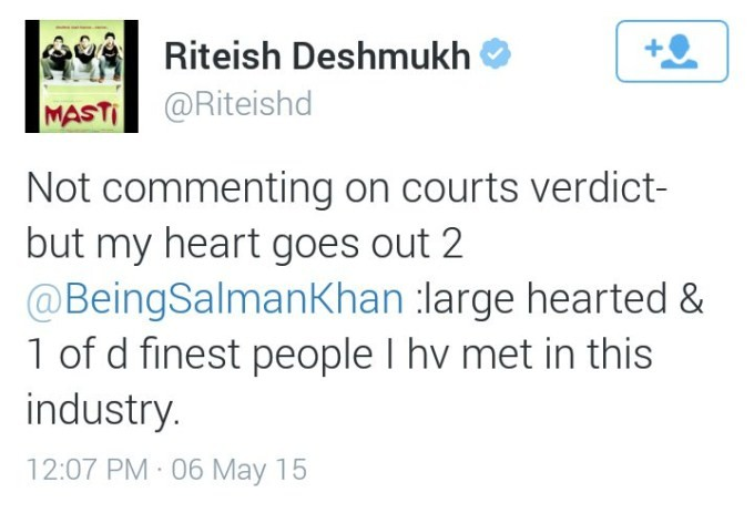 Celebs Tweet About Salman Khan Verdict,Salman Khan Verdict,Salman Khan,Salman khan hit and run case,salman khan verdict,Salman Khan convicted in 2002,Twitter reactions,Twitter