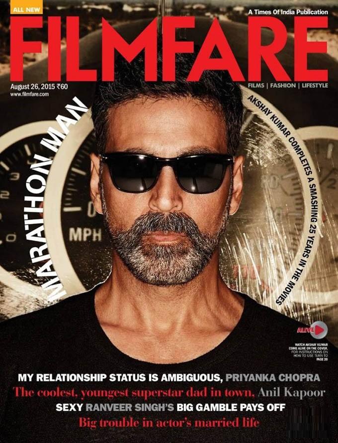 Akshay Kumar,actor Akshay Kumar,Akshay Kumar Photoshoot,Akshay Kumar Photoshoot for Filmfare Magazine,Filmfare Magazine August 2015,Filmfare Magazine August,Filmfare Magazine,Akshay Kumar on Filmfare Magazine
