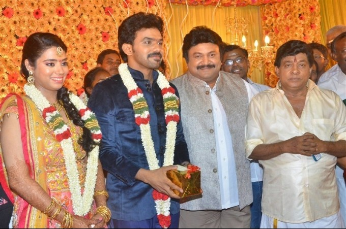 Singamuthu Son Wedding Reception,Ilayaraja,Prabhu,Manobala,Srikanth,K. Bhagyaraj,Kalaipuli S. Thanu,Kovai Sarala,Deva,Ponnambalam,Bharathiraja,Singamuthu Son Wedding Reception pics,Singamuthu Son Wedding Reception images,Singamuthu Son Wedding Reception p