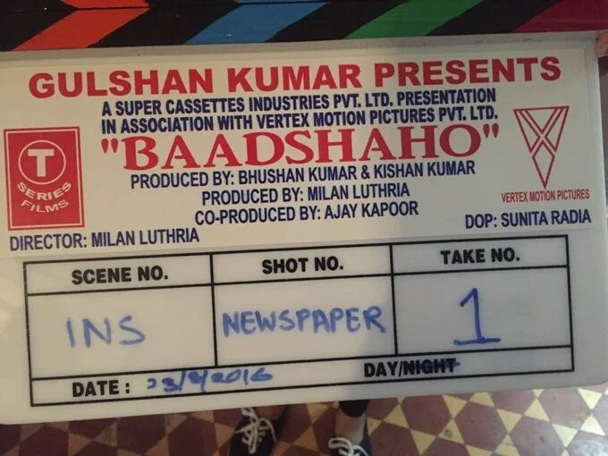 Baadshaho,Baadshaho Shooting begins,Baadshaho movie launched,Ajay Devgn,Emraan Hashmi,Ileana D'Cruz,Esha Gupta,Vidyut Jammwal,Bollywood movie Baadshaho,Baadshaho on the sets,Baadshaho pics,Baadshaho images,Baadshaho photos