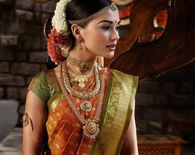 Amy Jackson New Bridal Saree Photoshoot Photos Images Gallery 7678