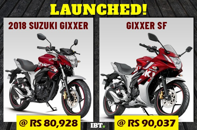 Gixxer and Gixxer SF Series launched in India