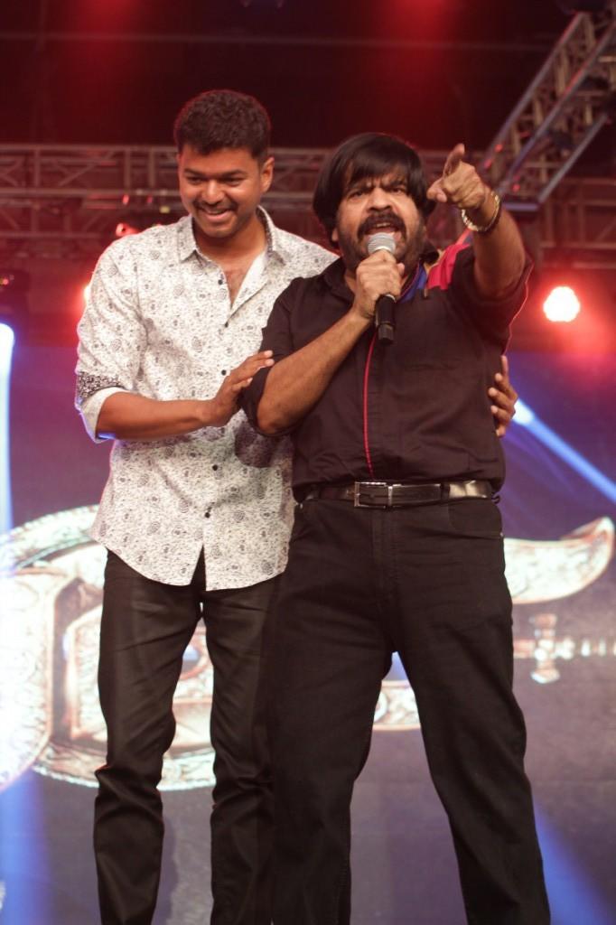 T Rajendar at Vijay's Puli Music Launch,T Rajendar,actor T Rajendar,Vijay Puli Music Launch,Puli Music Launch,Puli Audio Launch,T Rajendar latest pics,T Rajendar latest images,T Rajendar stills