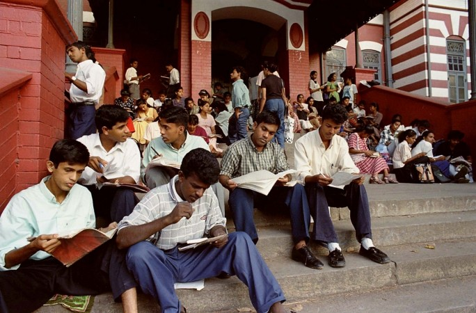 Students prepare for examination