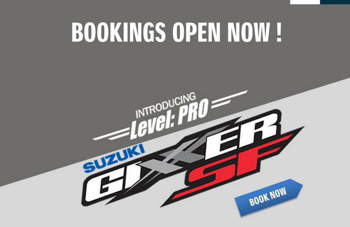 It's Official: Suzuki Gixxer SF Bookings Open in India