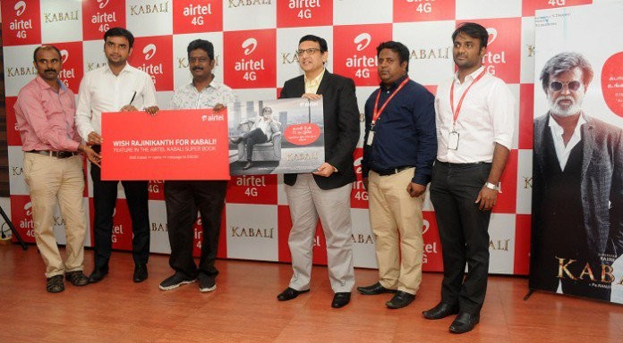 Airtel,Kabali,Kabali Airtel,Bharti Airtel,Airtel joins Kabali,Kabali promotions,Airtel unlimited 2G internet,2G internet,unlimited 2G internet,Kabali unlimited 2G internet,Rajini,rajinikanth,superstar rajinikanth
