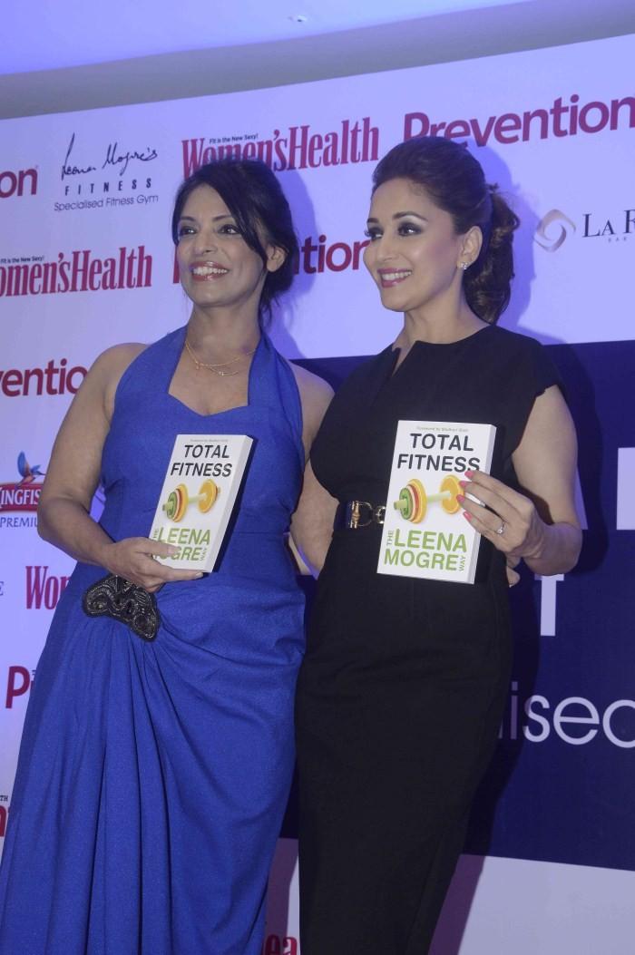 Madhuri Dixit,actress Madhuri Dixit,Madhuri Dixit launches Leena Mogre Book Total Fitness,Leena Mogre Book,Madhuri Dixit pics,Madhuri Dixit images,Madhuri Dixit photos,Madhuri Dixit stills,Madhuri Dixit hot pics,hot Madhuri Dixit